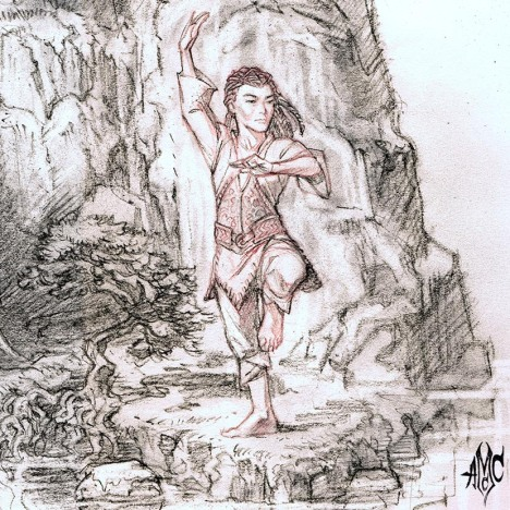 HalflingMonk01_Pencil_2012