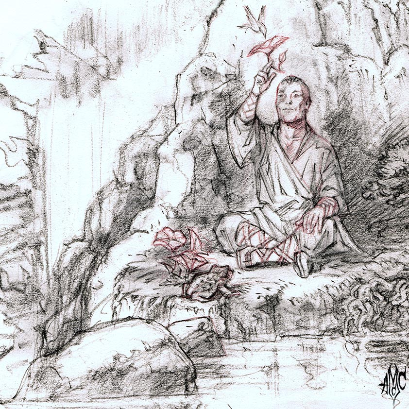 HalflingMonk02_Pencil_2012